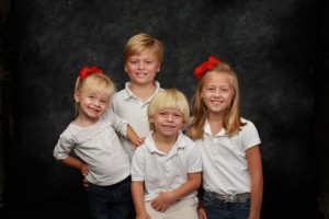 Four Cute Kids