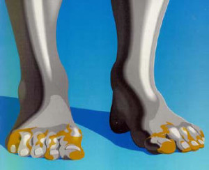 Some visual representations of the dream have only the Toes made of Iron & Clay
